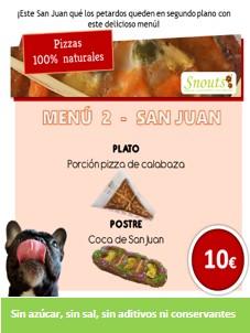 Menú 1 San Juan