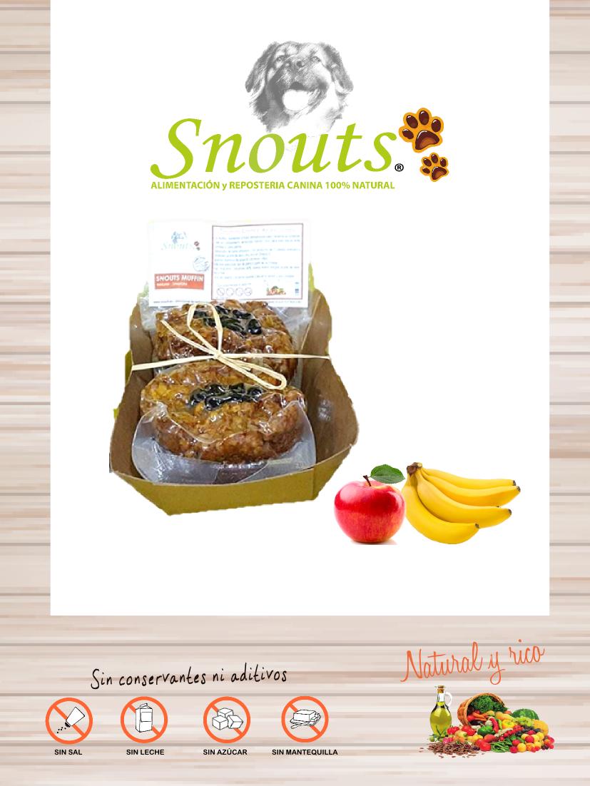Muffins Platano y manzana