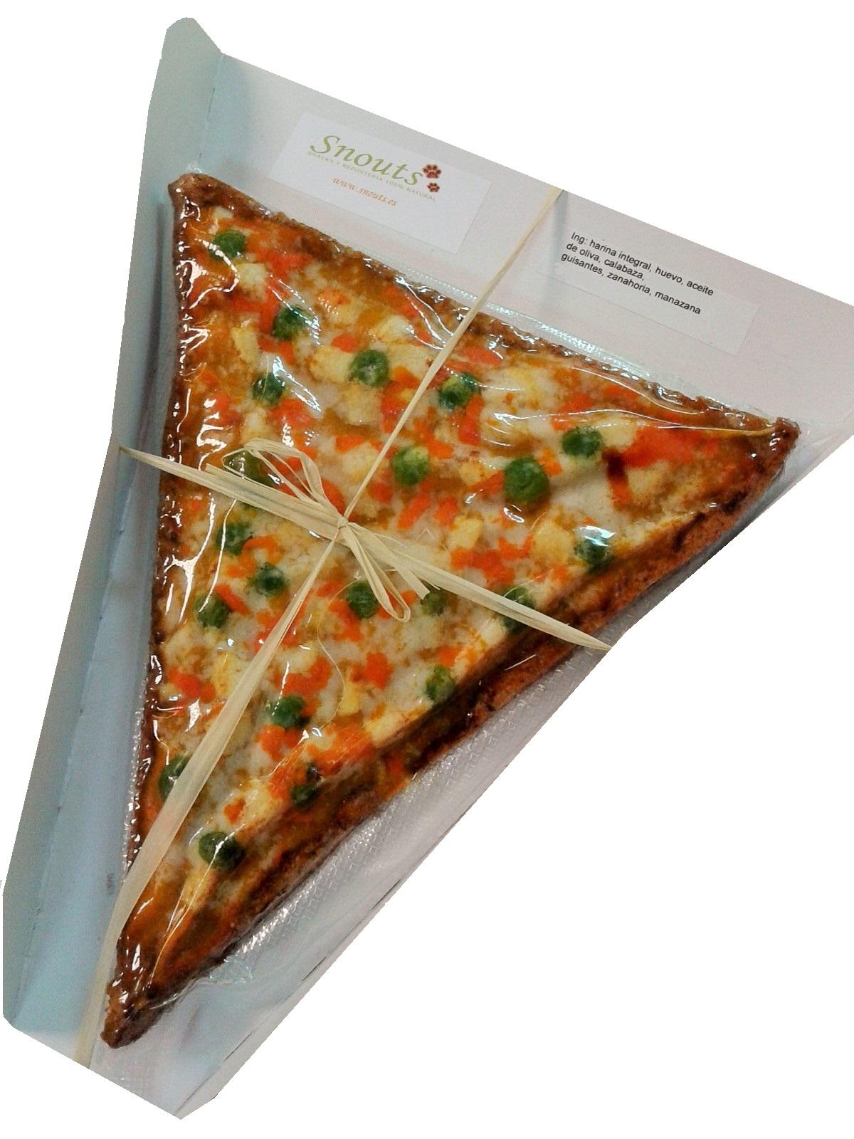 Porción pizza de fruta y verdura